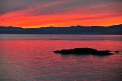 Bahía de James en crepúsculo Fotografía de archivo libre de regalías