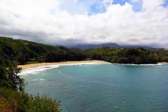Bahía de Kalihiwai imagen de archivo