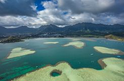 Bahía de Kaneohe, Oahu, Hawaii fotografía de archivo