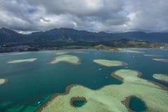 Bahía de Kaneohe, Oahu, Hawaii imagenes de archivo