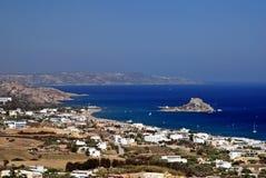 Bahía de Kefalos en Grecia Imagen de archivo