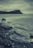 Bahía de Kimmeridge y torre de Clavell Foto de archivo libre de regalías