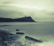Bahía de Kimmeridge y torre de Clavell, Dorset, Inglaterra Fotos de archivo