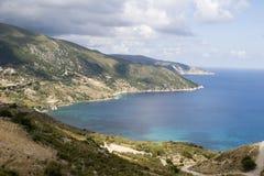 Bahía de Kiriakis en Kefalonia fotografía de archivo