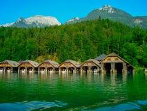 Bahía de Konigsee Fotos de archivo libres de regalías