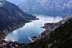 Bahía de Kotor. Fotos de archivo libres de regalías