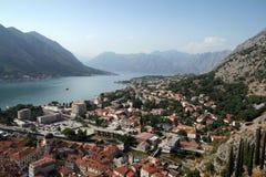 Bahía de Kotor Foto de archivo libre de regalías