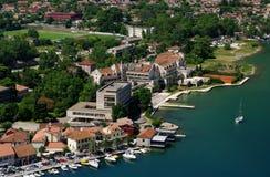 Bahía de Kotor de Montenegro fotografía de archivo