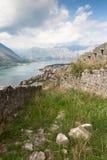 Bahía de Kotor de Montenegro foto de archivo