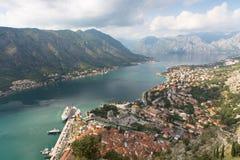 Bahía de Kotor de Montenegro foto de archivo libre de regalías