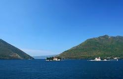 Bahía de Kotor en Montenegro Imágenes de archivo libres de regalías