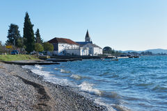 Bahía de Kotor Invierno en Montenegro Foto de archivo libre de regalías