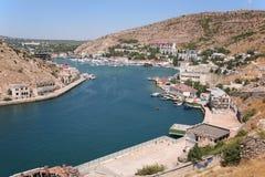 Bahía de la ciudad de Balaklava Fotografía de archivo