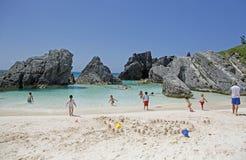 Bahía de la herradura de Bermudas Foto de archivo libre de regalías