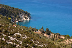 Bahía de la isla de Zakynthos Foto de archivo