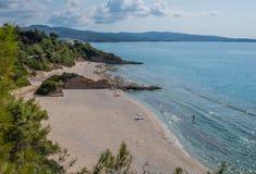 Bahía de la playa Fotografía de archivo