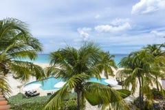 Bahía de las aguamieles en la playa de Anguila, del Caribe Fotos de archivo libres de regalías