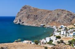 Bahía de Lendas en la isla de Crete en Grecia fotografía de archivo