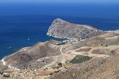 Bahía de Lendas en la isla de Crete en Grecia imagen de archivo