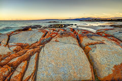 Bahía de los fuegos Tasmania Foto de archivo libre de regalías