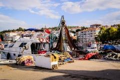 Bahía de los pescadores de Yalova Turquía Imagen de archivo