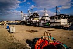 Bahía de los pescadores de Yalova Turquía Foto de archivo libre de regalías