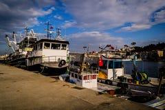 Bahía de los pescadores de Yalova Turquía Imagen de archivo libre de regalías