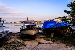 Bahía de los pescadores de Yalova Turquía Fotografía de archivo