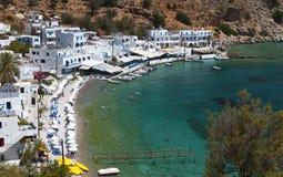Bahía de Loutro en la isla de Crete fotos de archivo libres de regalías