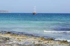 Bahía de Mellieha Imagenes de archivo