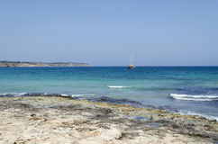 Bahía de Mellieha Imagen de archivo