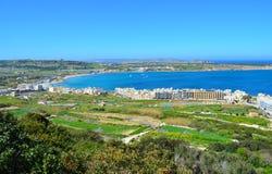 Bahía de Mellieha - Malta Imágenes de archivo libres de regalías