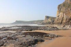 Bahía de Mewslade, Gower Peninsula, Swansea, País de Gales Fotos de archivo