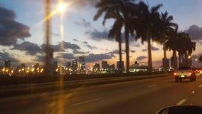 Bahía de Miami con Jetski Foto de archivo libre de regalías