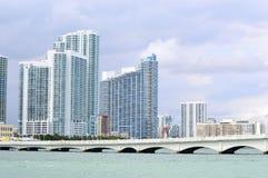 Bahía de Miami con Jetski Imagen de archivo libre de regalías