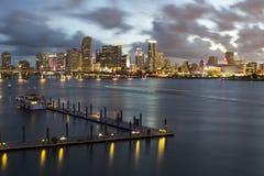 Bahía de Miami con Jetski foto de archivo