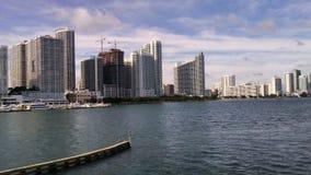 Bahía de Miami con Jetski Imágenes de archivo libres de regalías