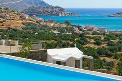 Bahía de Mirabello con la opinión sobre Crete fotos de archivo