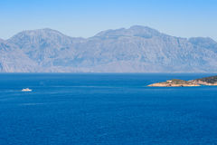 Bahía de Mirabello. Creta, Grecia Foto de archivo libre de regalías