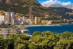 Bahía de Monte Carlo en Mónaco Imagenes de archivo