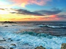 Bahía de Monterey del punto de los amantes Imagen de archivo libre de regalías