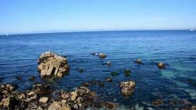 Bahía de Monterey que mira el punto de los amantes almacen de video