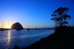 Bahía de Morro en la puesta del sol Fotos de archivo libres de regalías
