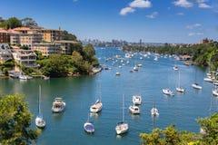 Bahía de Mosman en Sydney imagenes de archivo