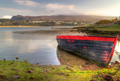 Bahía de Mulranny en la salida del sol, Co. Mayo Fotos de archivo