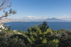 Bahía de Nápoles fotos de archivo