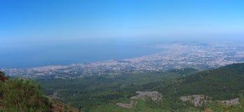Bahía de Nápoles, Italia Imágenes de archivo libres de regalías