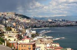 Bahía de Nápoles, Italia Fotos de archivo