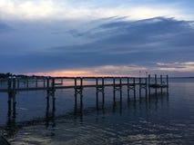 Bahía de Narragansett de la puesta del sol Fotos de archivo libres de regalías