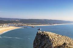 Bahía de Nazare, Portugal Fotografía de archivo